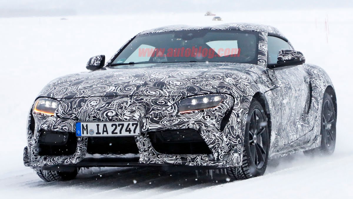 Toyota Supra Spied with Production Bumper, Side Vents and ...