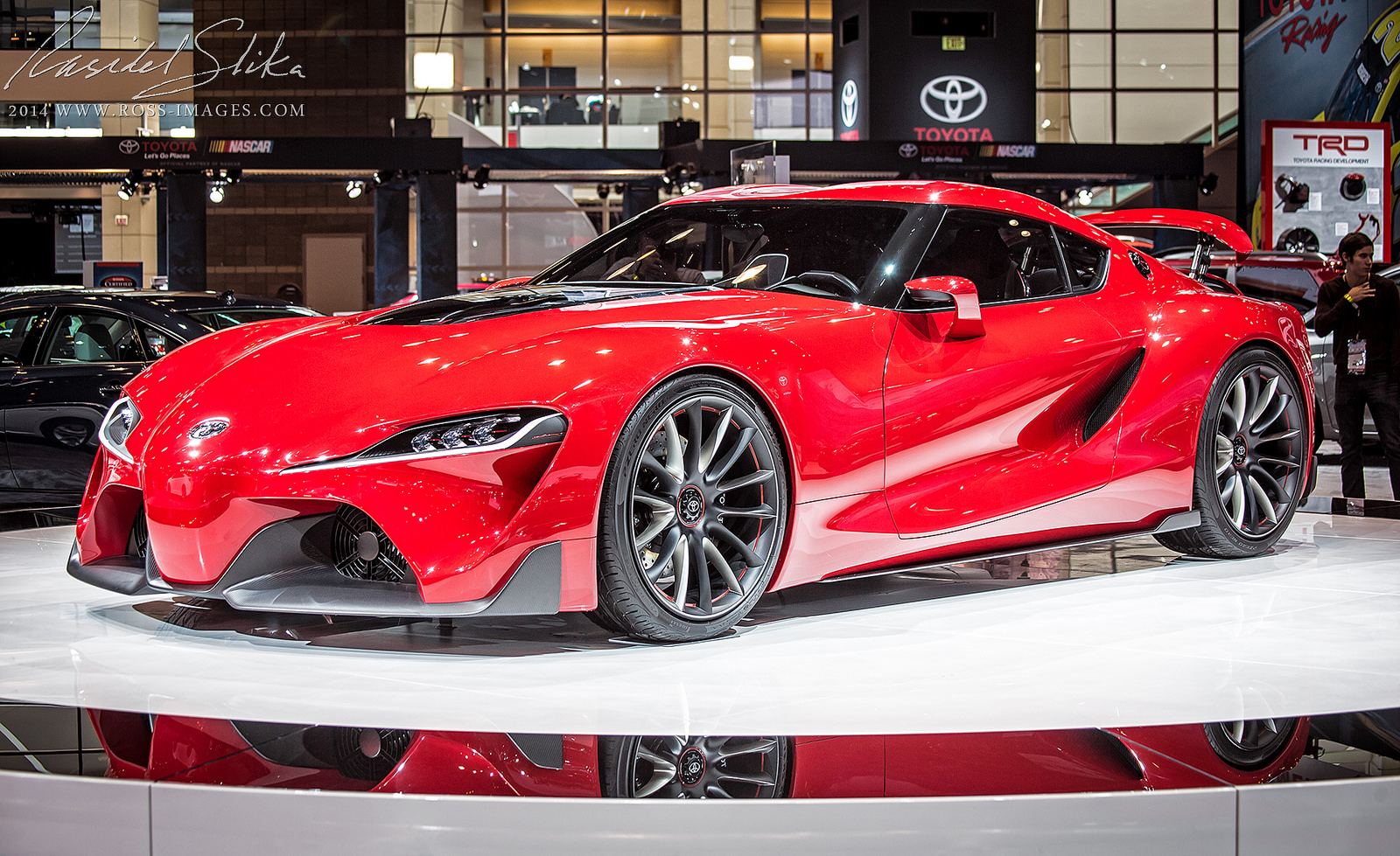 Red Toyota FT 1 Concept at Various Auto Shows amp Events