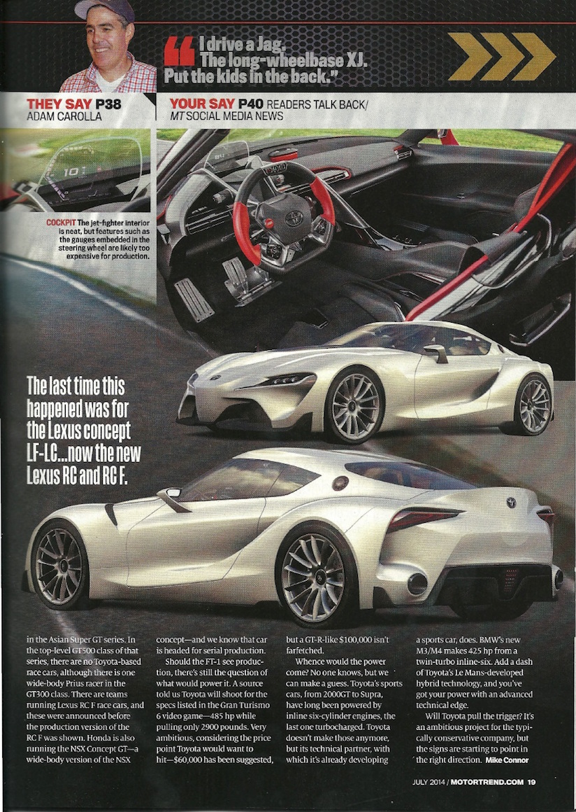 Second Ft1 Concept Coming Toyota Aiming For Gt6 Specs