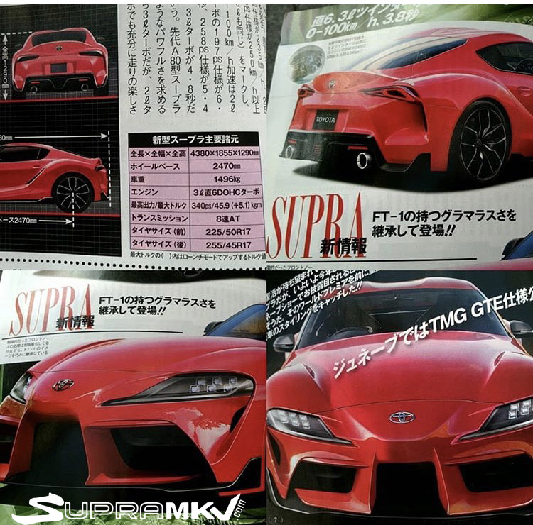 MKV Toyota Supra Dimensions / Specs Leaked In Best Car
