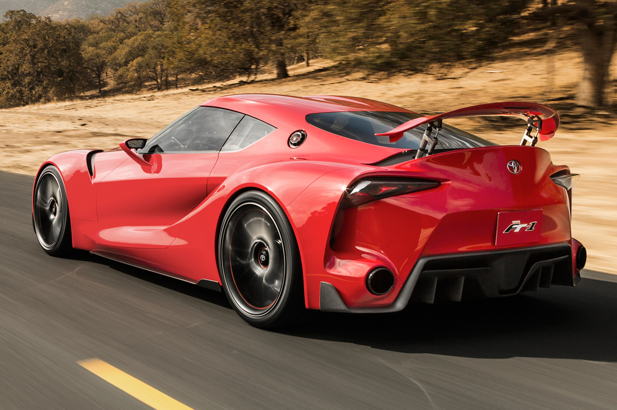 Toyota FT 1 Concept Rear Three Quarters View  ...