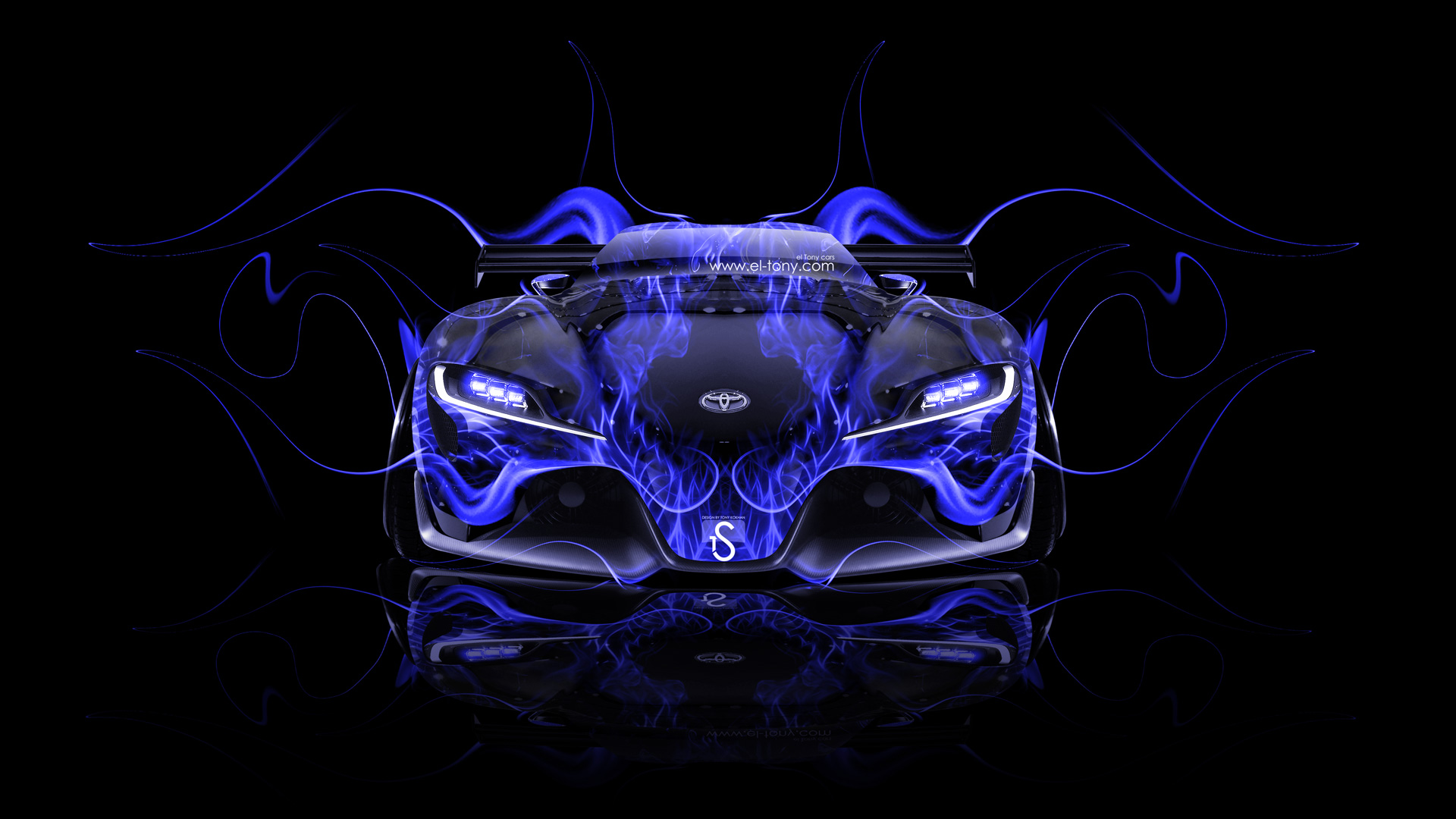 ... Toyota FT 1 Tuning Front Blue Fire Car  ...