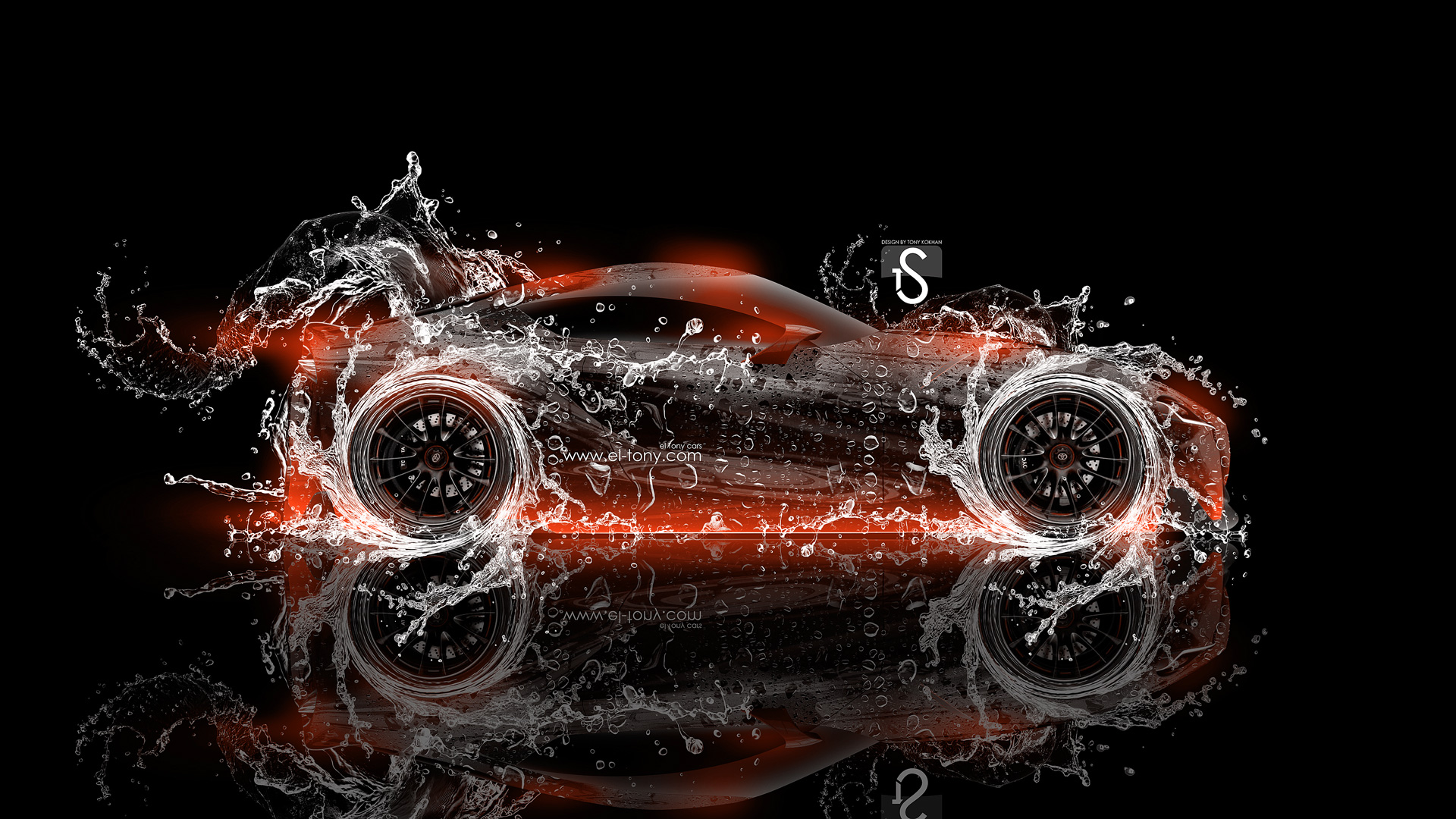 ... Toyota FT 1 Water Abstract Car 2014 Orange  ...
