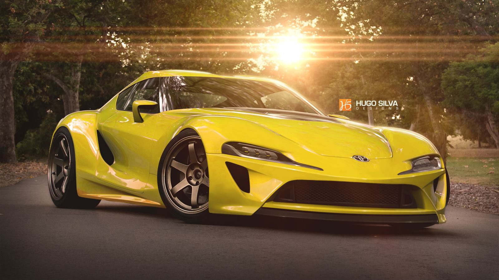 Yellow Toyota ft 1 Concept Car