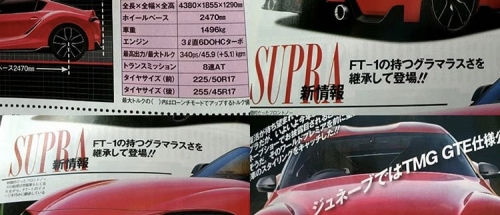 MKV Supra Dimensions / Specs Leaked in Best Car Magazine?
