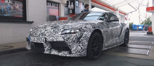 4 minute video of the latest Supra prototype spied testing at the Nurburgring