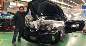 Daigo Saito reveals 2JZ powered A90 Supra drift car!